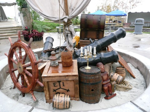 pirate theme props for rent for a pirate party or event